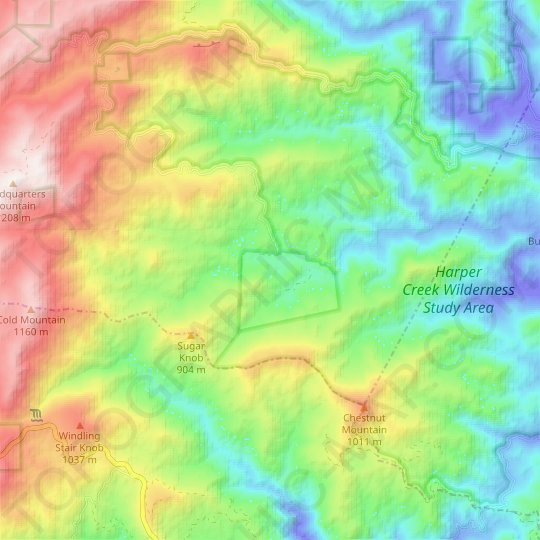 Kawana topographic map, relief map, elevations map